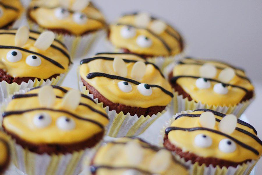 Herbstliche Bienen-Muffins